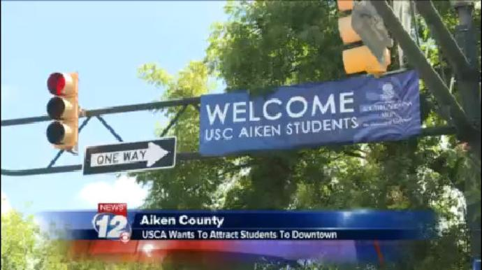 Downtown Aiken trying to attract college students