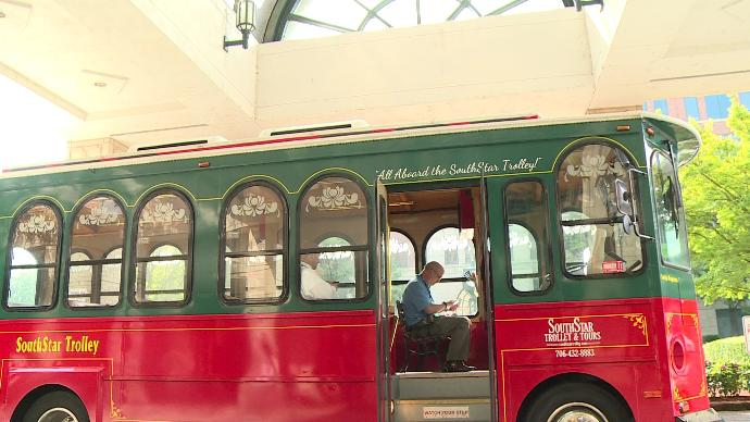 Former Augusta mayor and Unisys start annual trolley tech tour
