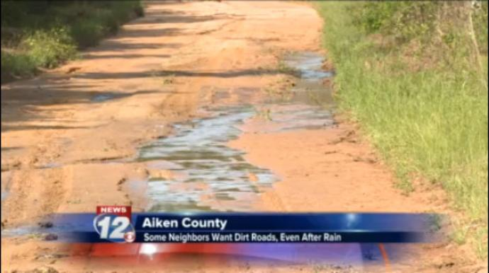 Dirt roads cause problems after extreme weather