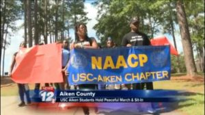 """USCA students respond to controversial tweet with """"Peace, Love, Unity"""""""